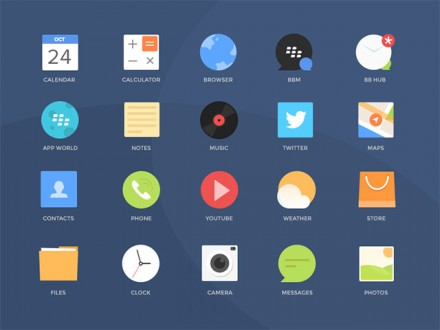 20 Blackberry icons - PSD