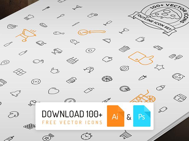 100+ free icons - AI, PSD