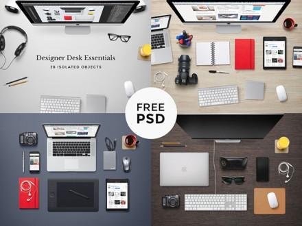 Designer desk essentials - PSD