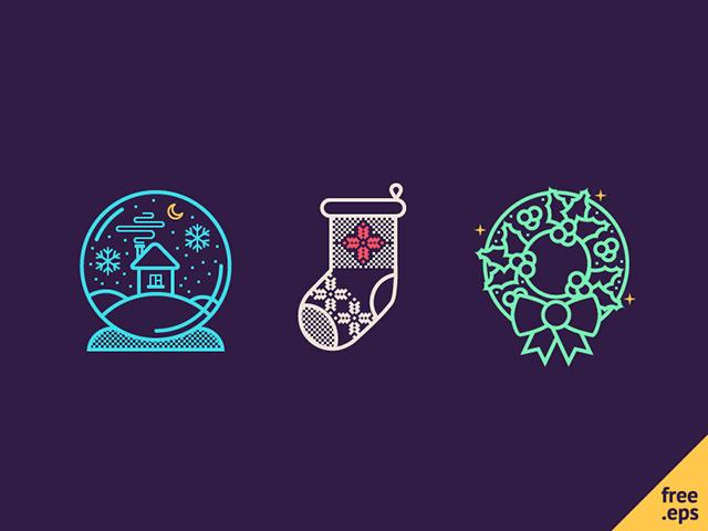 3 Christmas icons - EPS