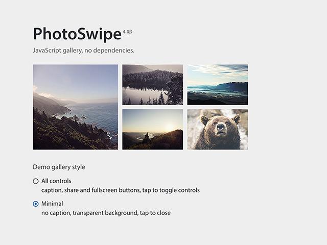 PhotoSwipe - JS photo gallery