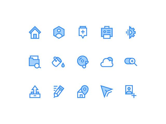15 icons for web - PSD + AI + EPS