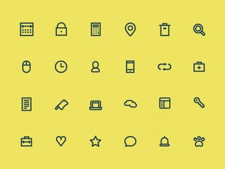 24 tiny icons - PSD