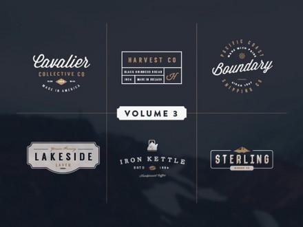 6 vintage logo kit
