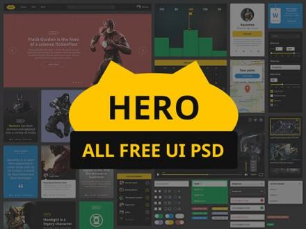 Hero - Free PSD UI kit