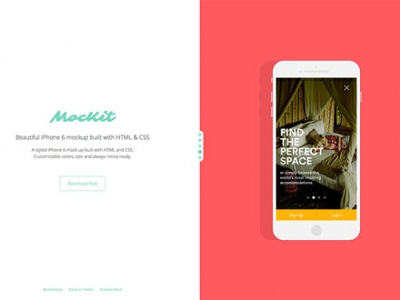 MocKit - HTML iPhone 6 mockups