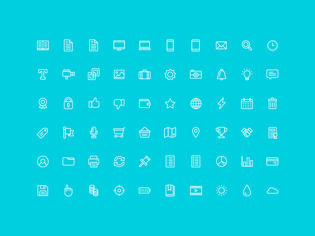 60 free outline icons AI