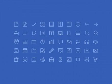 50 PSD line icons