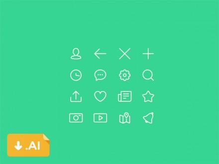 iOS8 basic icon set