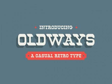 Oldways - Retro free font
