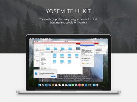 Yosemite UI kit - Sketch