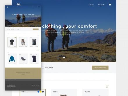 Trekking Store - PSD template