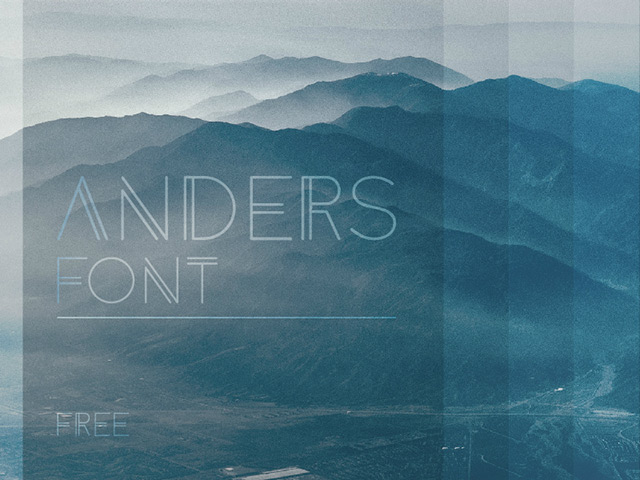 Anders free font Download