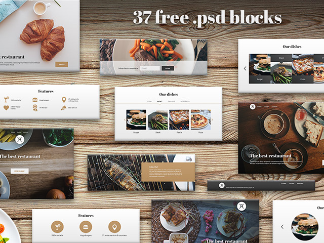 http://freebiesbug.com/wp-content/uploads/2015/04/restaurant-ui-kit.jpg