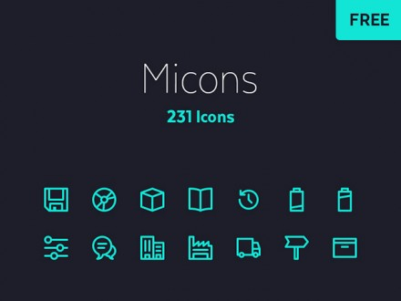 Micons - 231 tiny icons