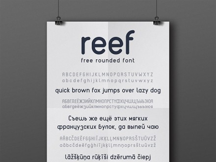 REEF - Free rounded font