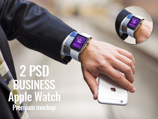 2 PSD Apple Watch mockups