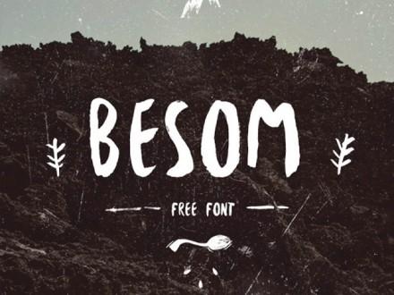 Besom free font