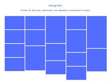 Minigrid - Minimal cascading grid layout