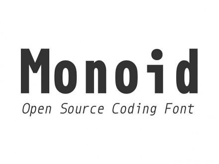 Monoid free font
