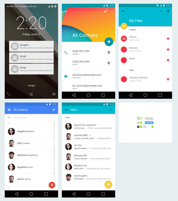 Android Material Design - Freebiesbug
