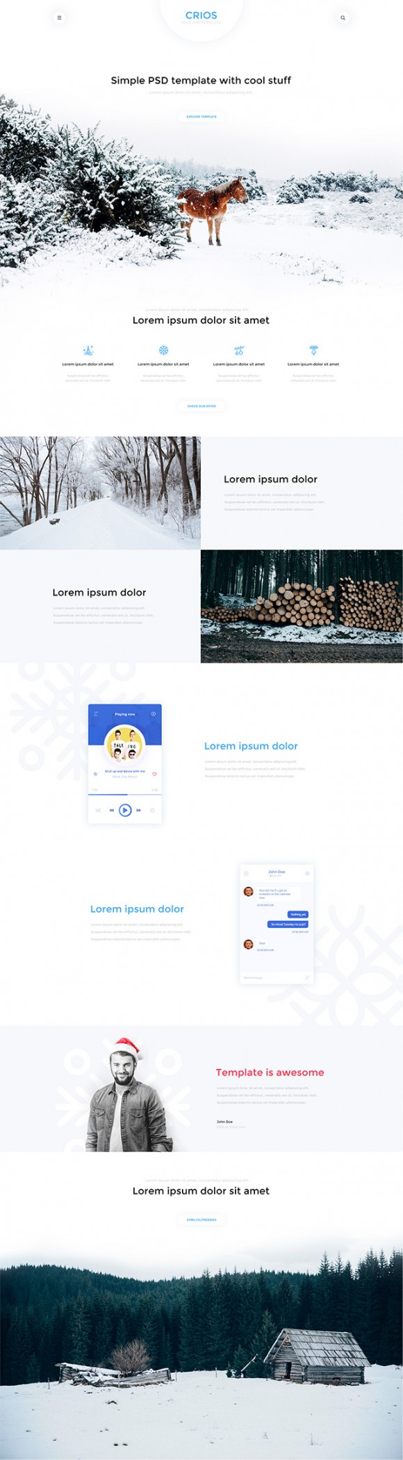 Crios - Free PSD website template - Full image