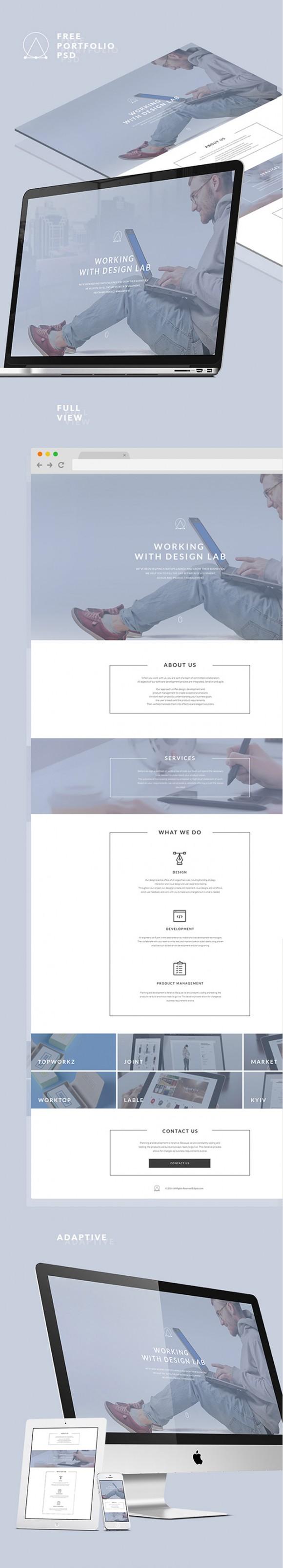Elipsis portfolio template - Full view