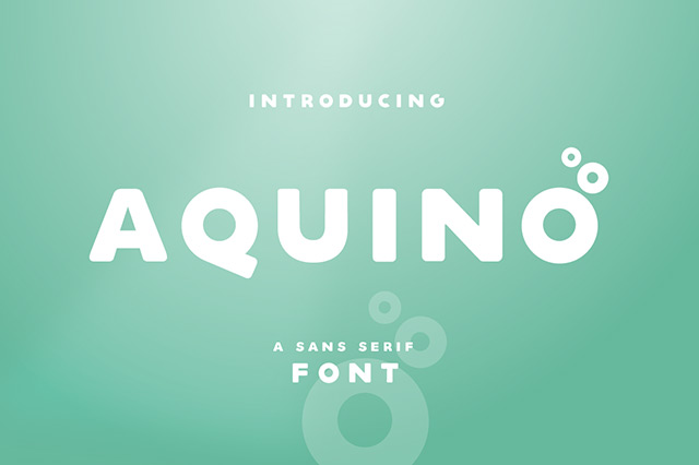 Aquino: A soft and bold sans serif font - Freebiesbug