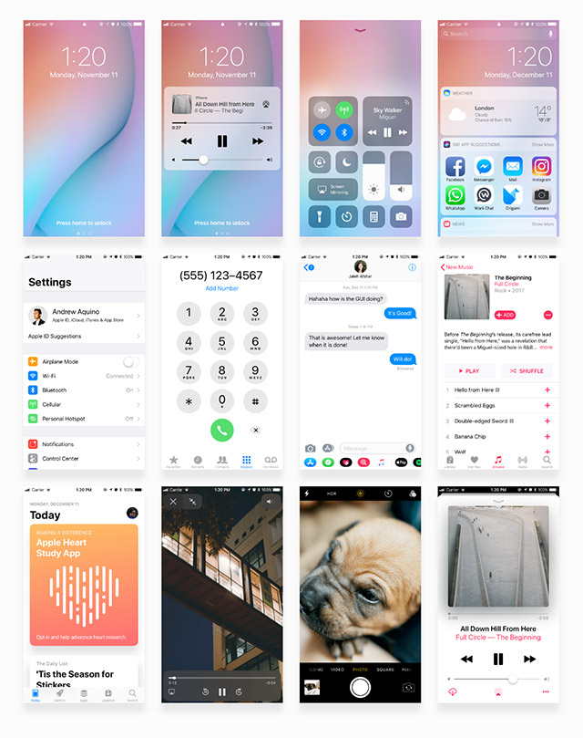Facebook iOS 11 iPhone UI kit - Freebiesbug
