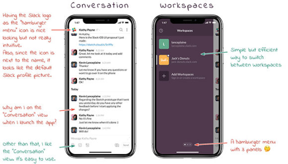 Slack iPhone UI - Preview 01