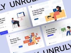Unruly: 20 vector illustrations for your landing page